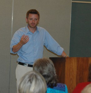 Ed Southern talks to writers in Henderson County