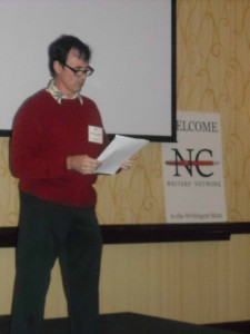 NCWN member Tony Rankine reads at the 2011 Fall Conference Open Mic